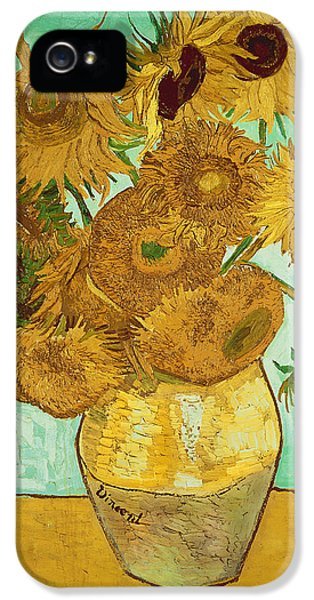 Still Life iPhone 5 Case - Sunflowers By Van Gogh by Vincent Van Gogh