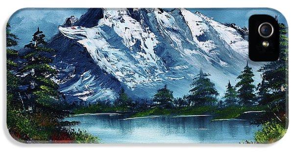 Mountain iPhone 5 Case - Take A Breath by Barbara Teller