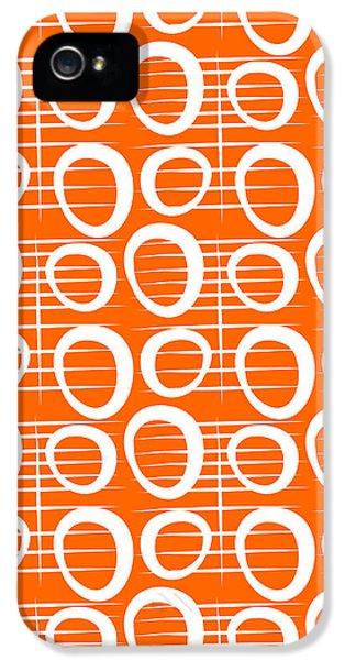 Tangerine Loop IPhone 5 Case by Linda Woods