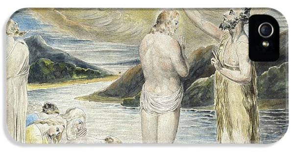 The Baptism Of Christ IPhone 5 Case by William Blake