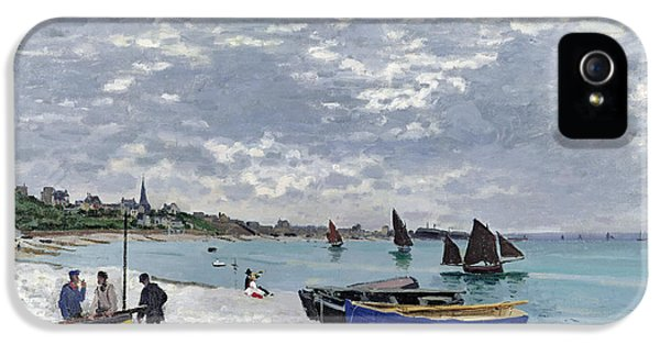 The Beach At Sainte Adresse IPhone 5 / 5s Case by Claude Monet