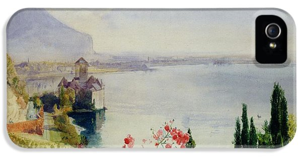 The Castle At Chillon IPhone 5 Case by John William Inchbold