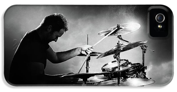 Music iPhone 5 Case - The Drummer by Johan Swanepoel