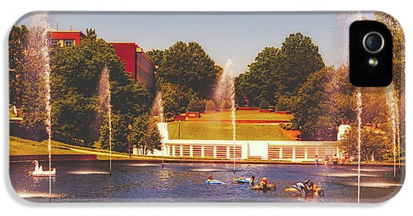 Clemson iPhone 5 Case - The Reflection Pond - Clemson University by Library Of Congress