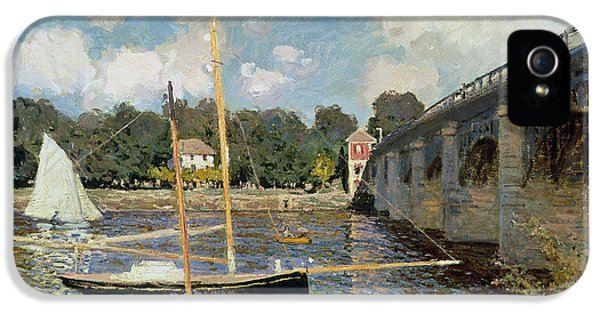 Boat iPhone 5 Case - The Seine At Argenteuil by Claude Monet