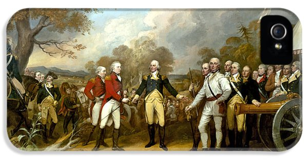 Landmarks iPhone 5 Case - The Surrender Of General Burgoyne by War Is Hell Store