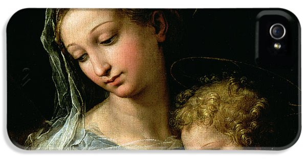 The Virgin Of The Rose IPhone 5 Case by Raphael