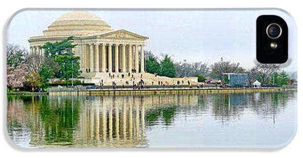 Jefferson Memorial iPhone 5 Case - Tidal Basin With Cherry Blossoms by Jack Schultz