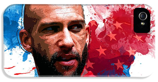 Tim Howard IPhone 5 Case by Semih Yurdabak