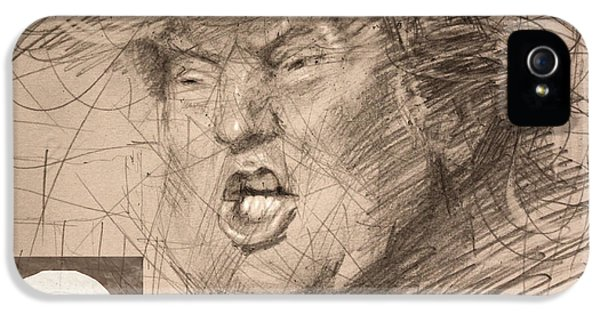 Trump IPhone 5 Case by Ylli Haruni