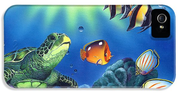 Turtle Dreams IPhone 5 Case by Angie Hamlin