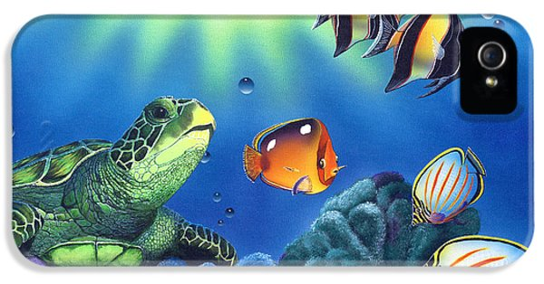 Turtle Dreams IPhone 5 / 5s Case by Angie Hamlin