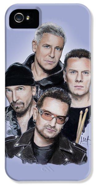 U2 IPhone 5 Case by Melanie D