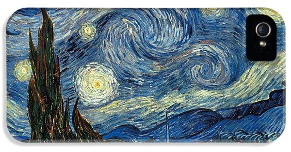 Moon iPhone 5 Case - Van Gogh Starry Night by Granger