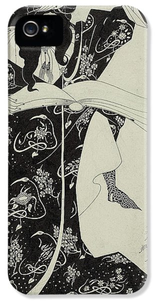 Virgilius The Sorcerer IPhone 5 Case by Aubrey Beardsley