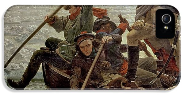 Boats iPhone 5 Cases - Washington Crossing the Delaware River iPhone 5 Case by Emanuel Gottlieb Leutze