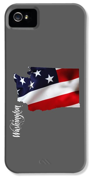 Washington State Map Collection IPhone 5 Case by Marvin Blaine
