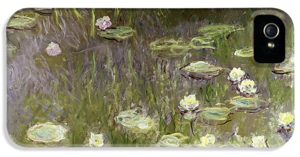 Waterlilies At Midday IPhone 5 Case by Claude Monet