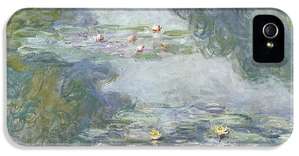 Padded iPhone 5 Cases - Waterlilies iPhone 5 Case by Claude Monet