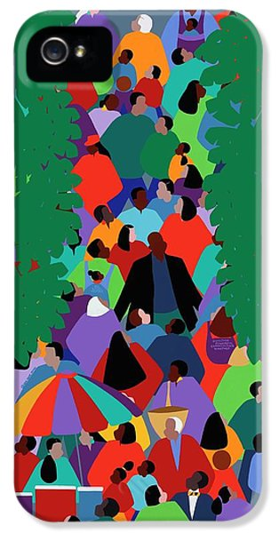 iPhone 5 Case - We The People Two by Synthia SAINT JAMES
