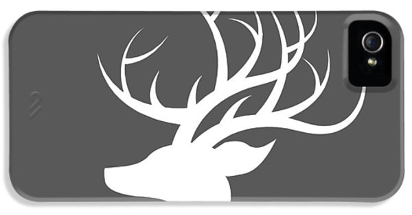 White Deer Silhouette IPhone 5 Case