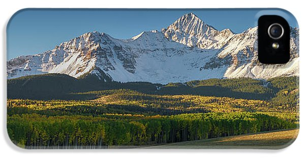 IPhone 5 Case featuring the photograph Wilson Peak Panorama by Aaron Spong