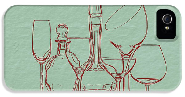 Wine Decanters With Glasses IPhone 5 Case