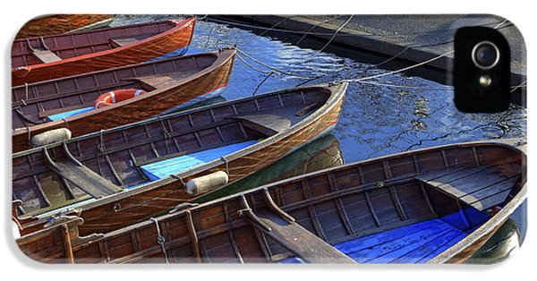 Boats iPhone 5 Cases - Wooden Boats iPhone 5 Case by Joana Kruse