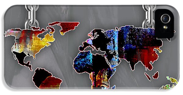 World Map Collection IPhone 5 Case by Marvin Blaine