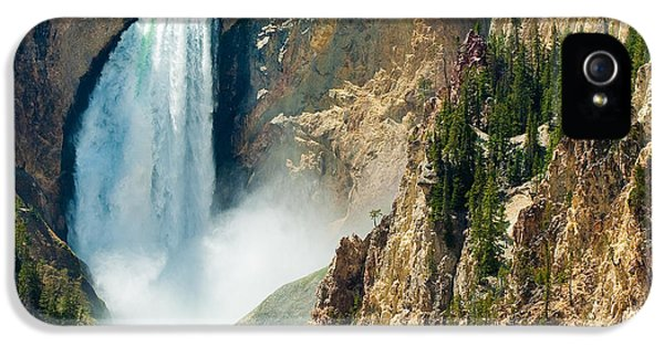 Yellowstone Waterfalls IPhone 5 Case by Sebastian Musial