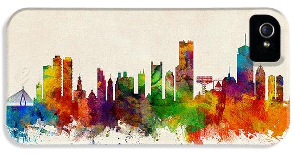 Boston Massachusetts Skyline IPhone 5 Case by Michael Tompsett