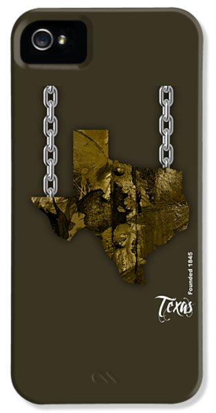Texas State Map Collection IPhone 5 Case by Marvin Blaine