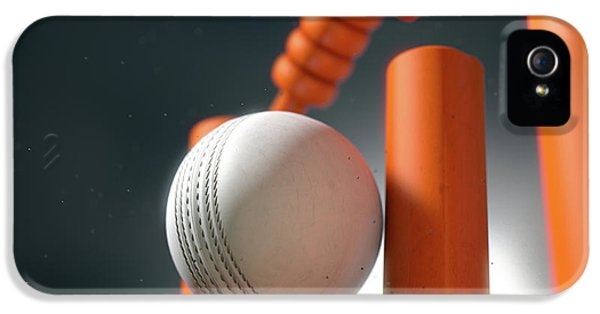 Cricket Ball Hitting Wickets IPhone 5 Case
