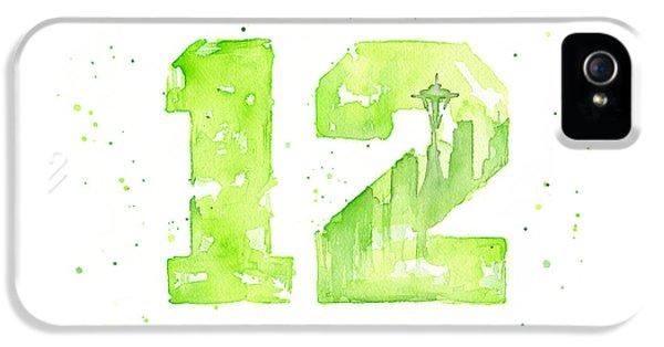 12th Man Seahawks Art Go Hawks IPhone 5 / 5s Case by Olga Shvartsur