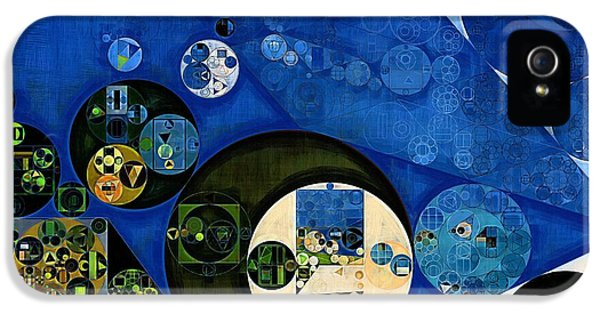 Kangaroo iPhone 5 Case - Abstract Painting - Dark Jungle Green by Vitaliy Gladkiy