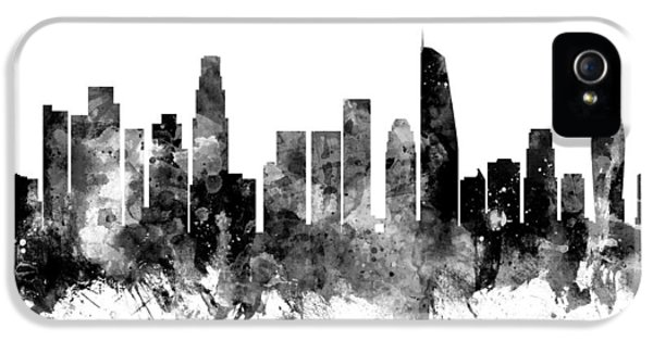 Los Angeles California Skyline IPhone 5 Case by Michael Tompsett