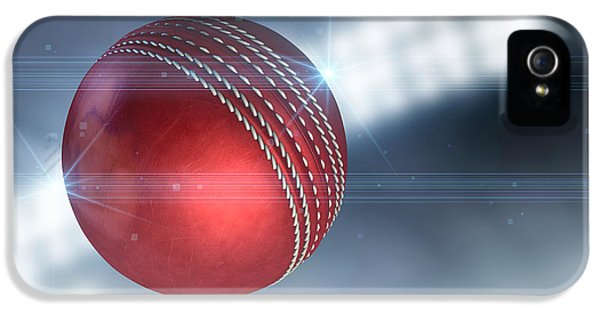 Cricket iPhone 5 Case - Ball Flying Through The Air by Allan Swart