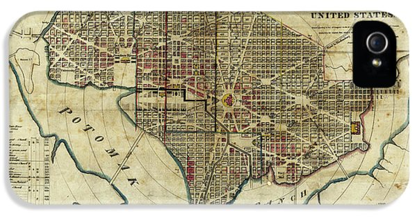 1822 Map Of Washington Dc IPhone 5 Case