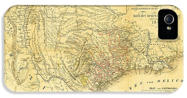 Austin iPhone 5 Case - 1849 Texas Map by Bill Cannon