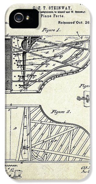 1880 Steinway Piano Forte Patent Art Sheet 1  IPhone 5 Case by Gary Bodnar