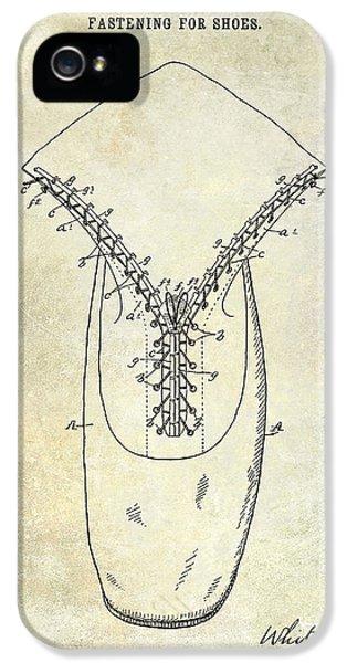 1896 Shoe Patent  IPhone 5 Case by Jon Neidert