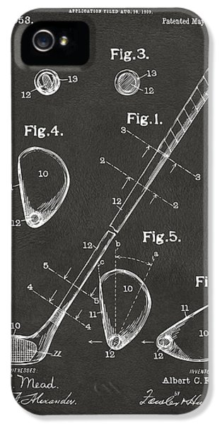 1910 Golf Club Patent Artwork - Gray IPhone 5 Case