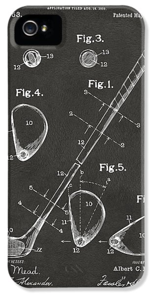 1910 Golf Club Patent Artwork - Gray IPhone 5 Case by Nikki Marie Smith