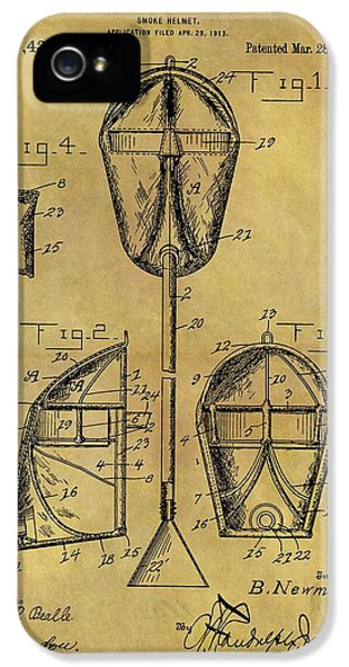 Breathe iPhone 5 Case - 1916 Smoke Helmet Patent by Dan Sproul