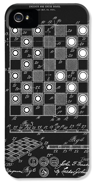 1923 Checkers And Chess Board IPhone 5 Case by Dan Sproul