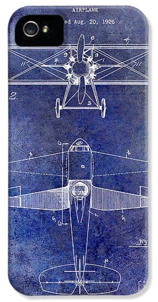 1929 Airplane Patent Blue IPhone 5 Case