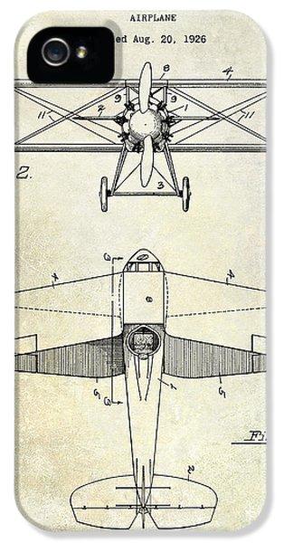 1929 Airplane Patent IPhone 5 Case