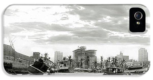 Miami Skyline iPhone 5 Case - 1926 Miami Hurricane  by Jon Neidert