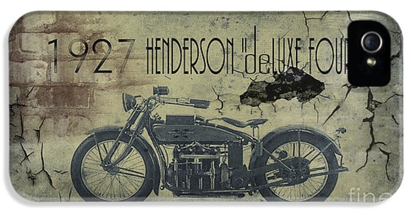 1927 Henderson Vintage Motorcycle IPhone 5 Case by Cinema Photography