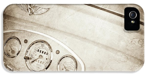 1929 Ford Model A Roadster Dashboard Emblem -0048s IPhone 5 Case by Jill Reger